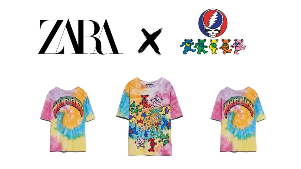 camiseta de Zara de Grateful Dead
